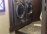 Stainless Steel side by side, full size washer dryer